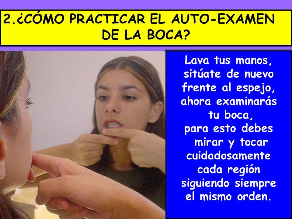 2.¿CÓMO PRACTICAR EL AUTO-EXAMEN DE LA BOCA
