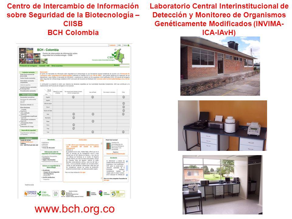 Centro de Intercambio de Información sobre Seguridad de la Biotecnología –CIISB BCH Colombia