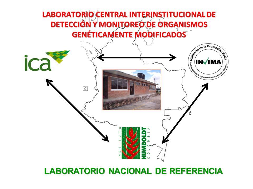 LABORATORIO CENTRAL INTERINSTITUCIONAL DE DETECCIÓN Y MONITOREO DE ORGANISMOS GENÉTICAMENTE MODIFICADOS