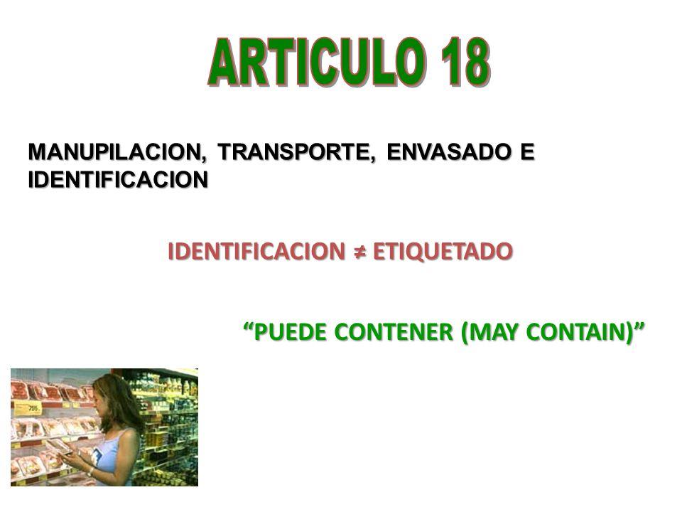 IDENTIFICACION ≠ ETIQUETADO