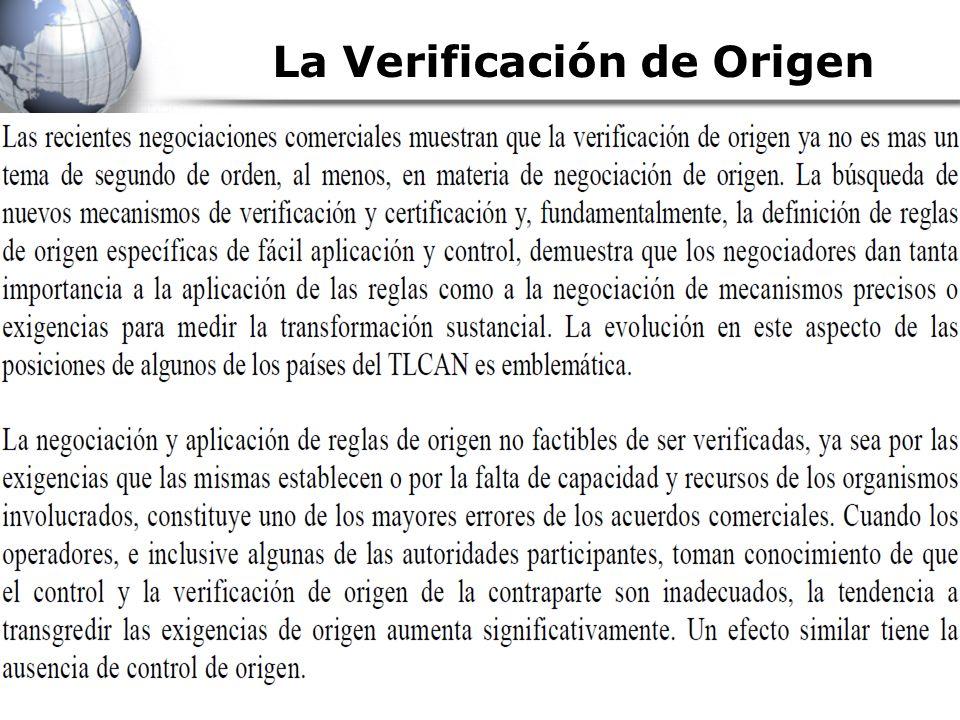 La Verificación de Origen