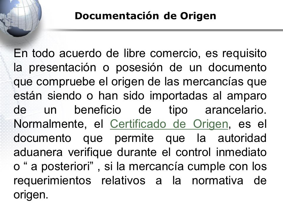 Documentación de Origen