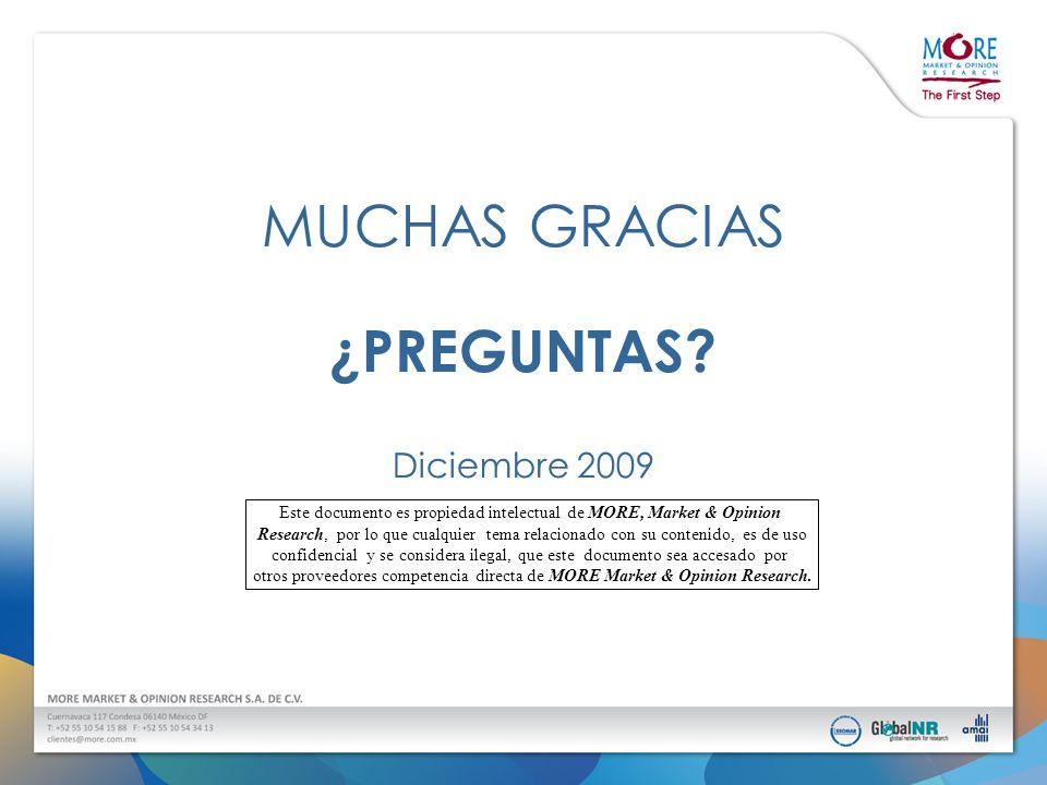 Este documento es propiedad intelectual de MORE, Market & Opinion