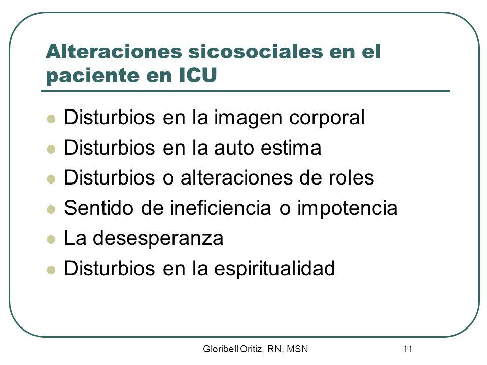 Alteraciones sicosociales en el paciente en ICU