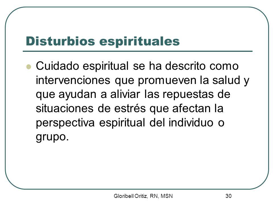 Disturbios espirituales