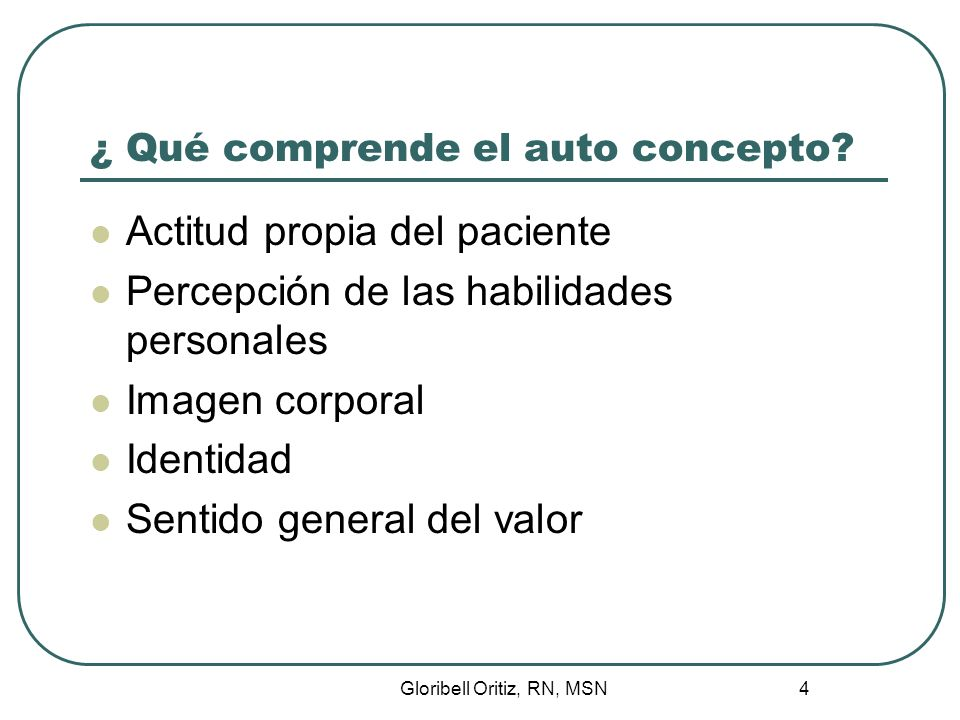 ¿ Qué comprende el auto concepto