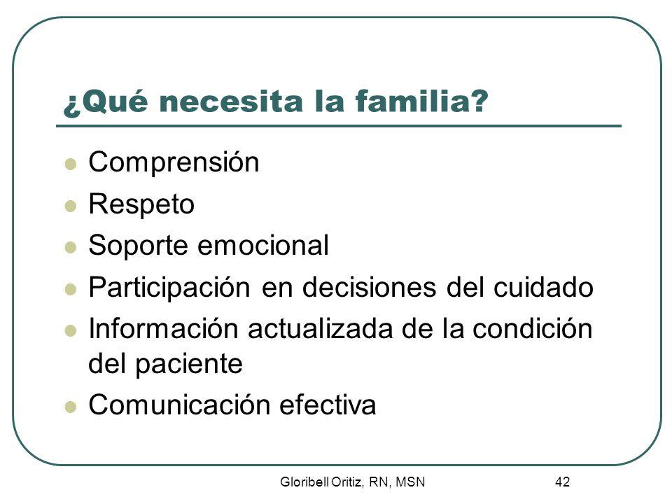¿Qué necesita la familia