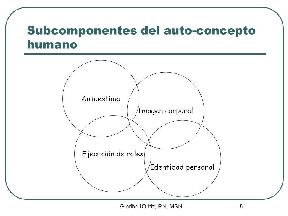 Subcomponentes del auto-concepto humano