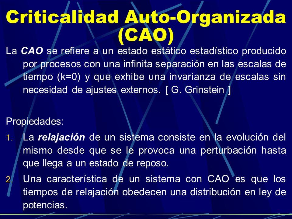 Criticalidad Auto-Organizada (CAO)