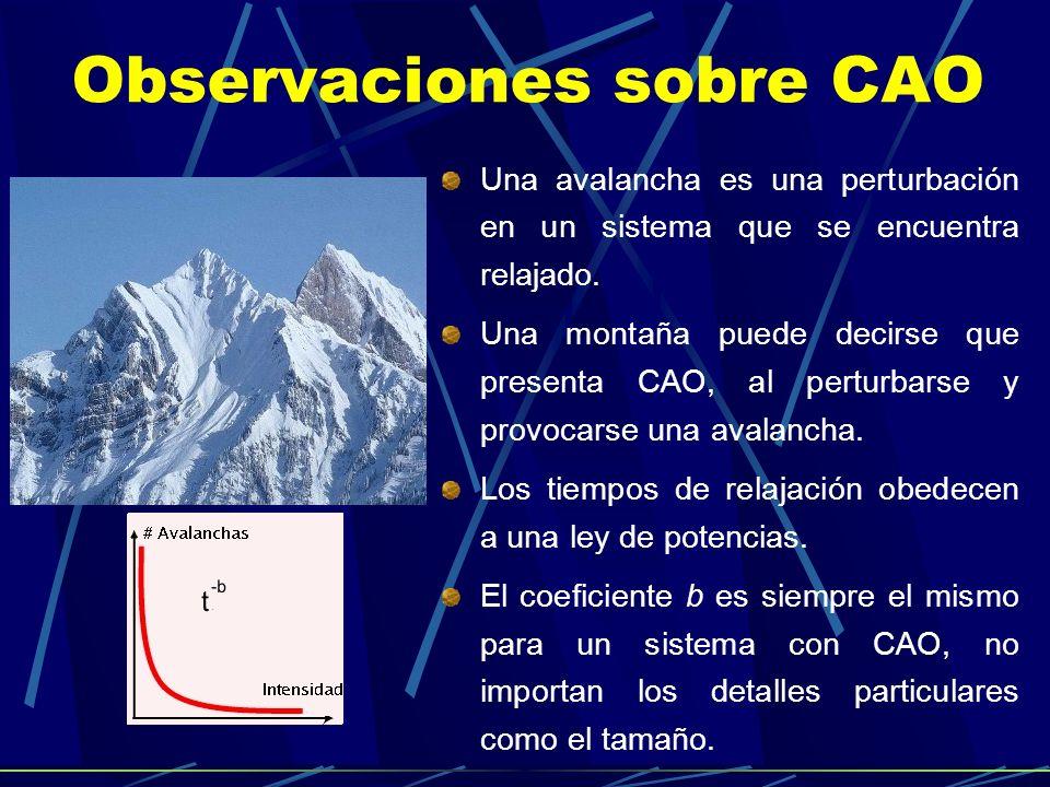 Observaciones sobre CAO