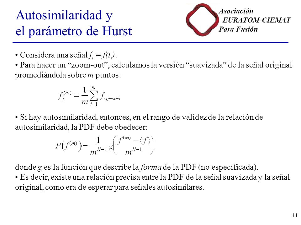 Autosimilaridad y el parámetro de Hurst