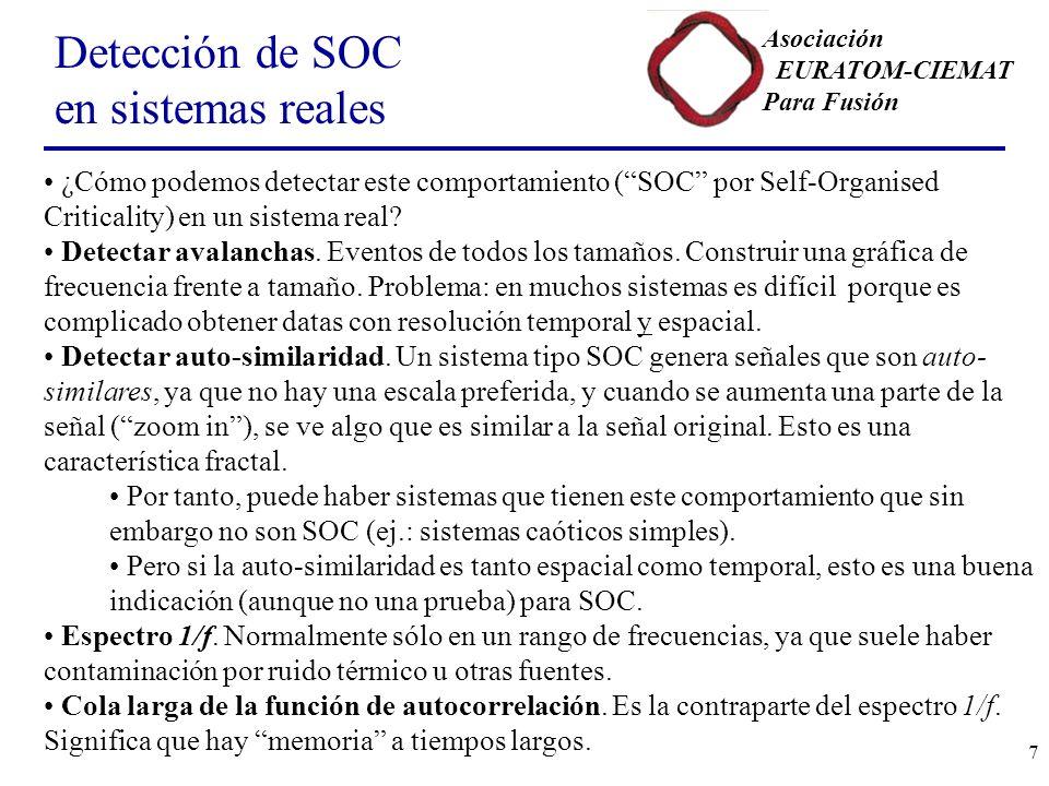 Detección de SOC en sistemas reales