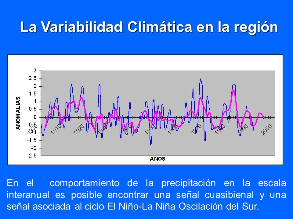 La Variabilidad Climática en la región
