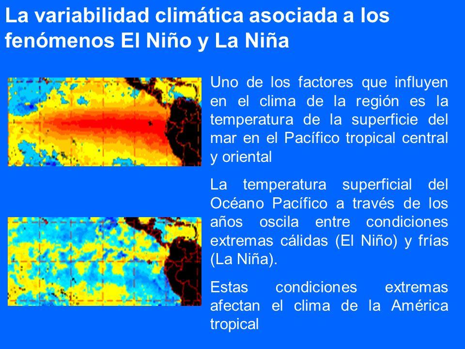 La variabilidad climática asociada a los fenómenos El Niño y La Niña