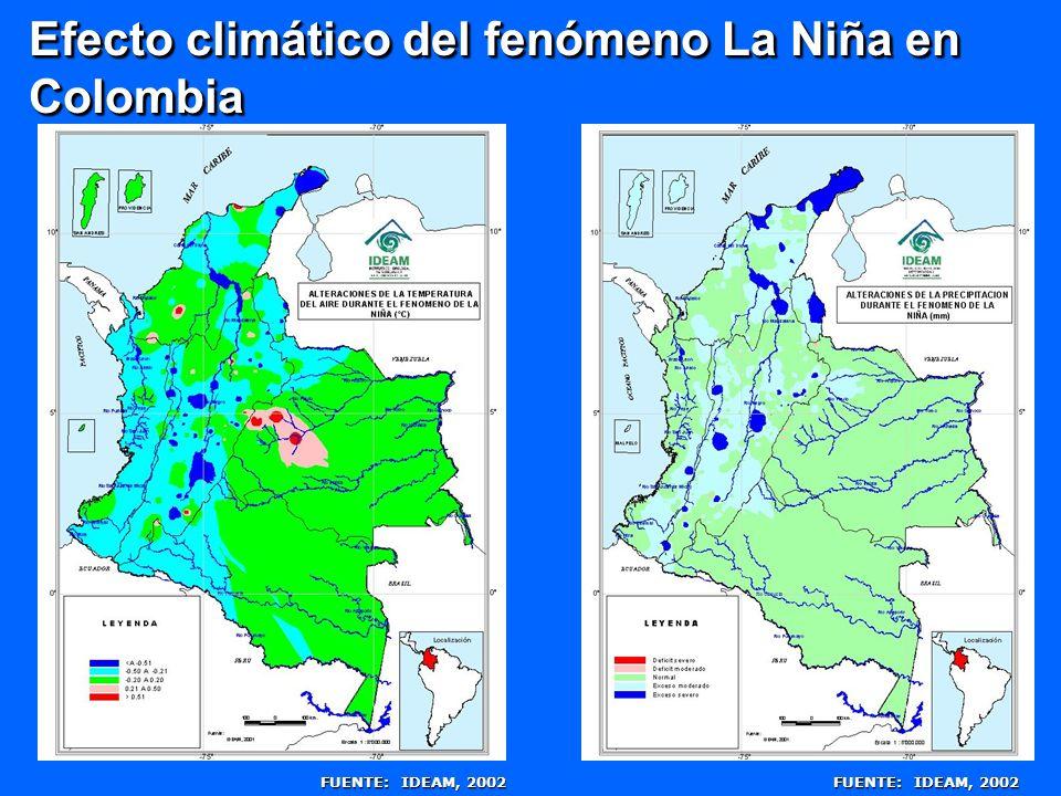Efecto climático del fenómeno La Niña en Colombia