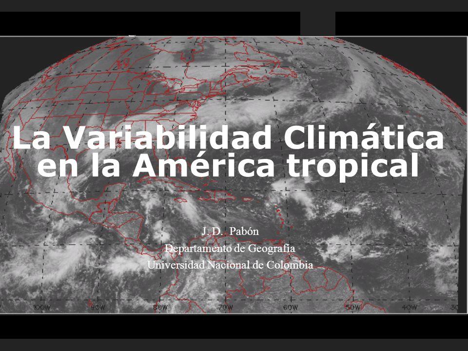 La Variabilidad Climática en la América tropical