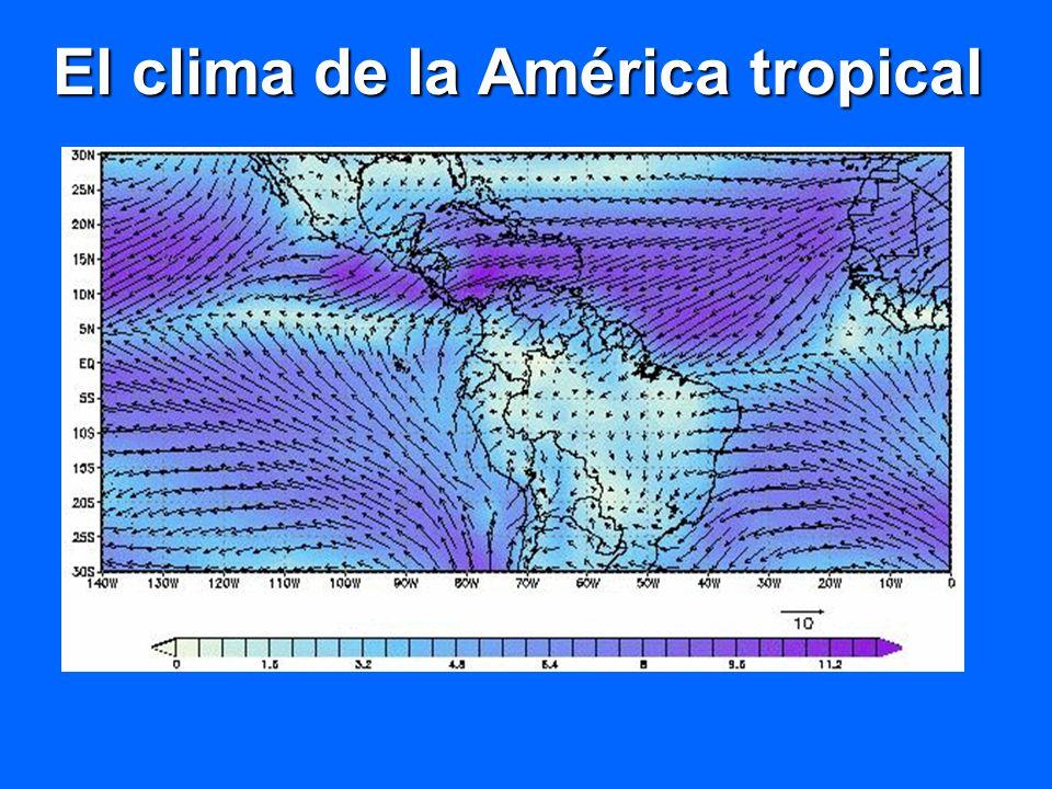 El clima de la América tropical