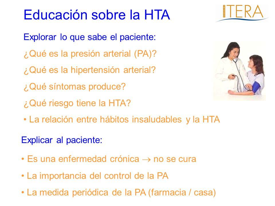 Educación sobre la HTA Es una enfermedad crónica  no se cura