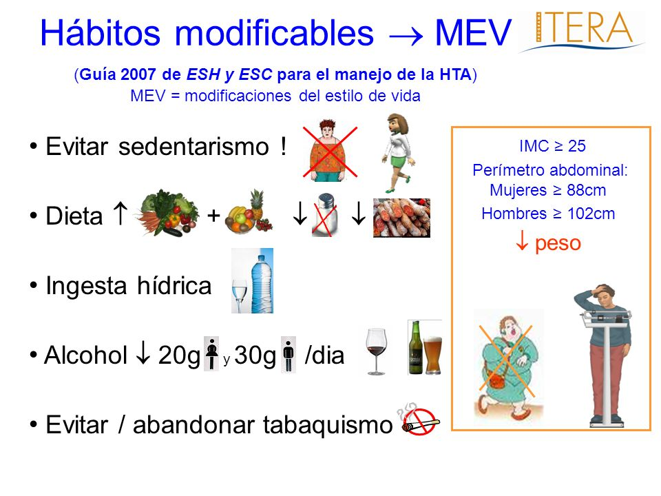 Hábitos modificables  MEV