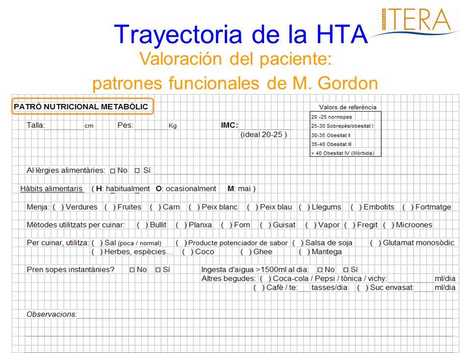 Trayectoria de la HTA Valoración del paciente: