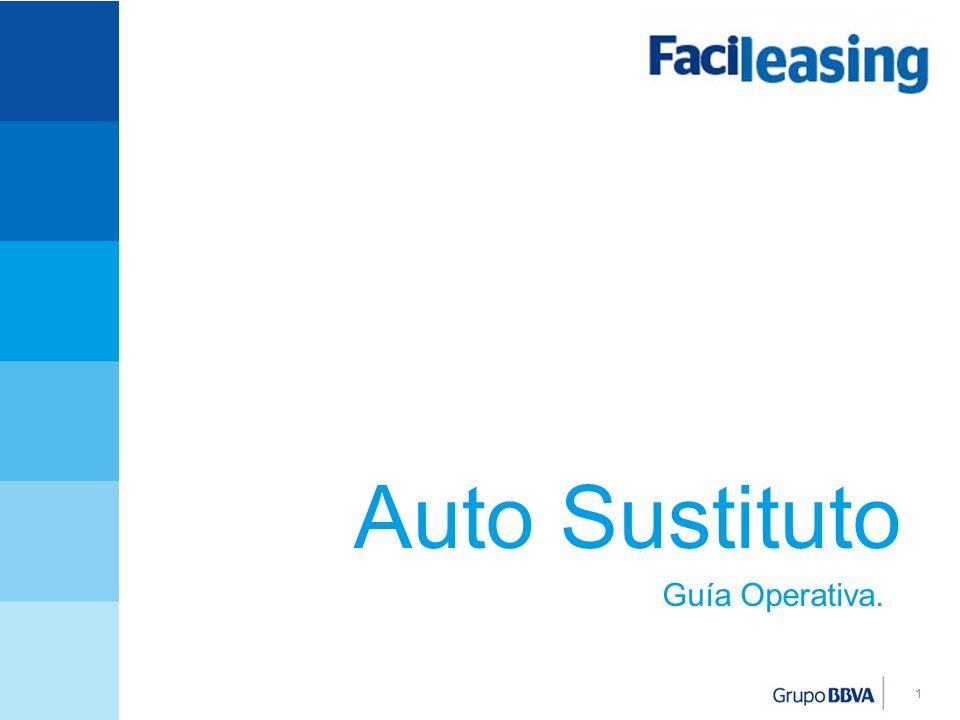 Auto Sustituto Guía Operativa.