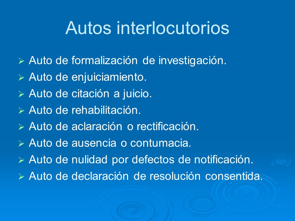 Autos interlocutorios
