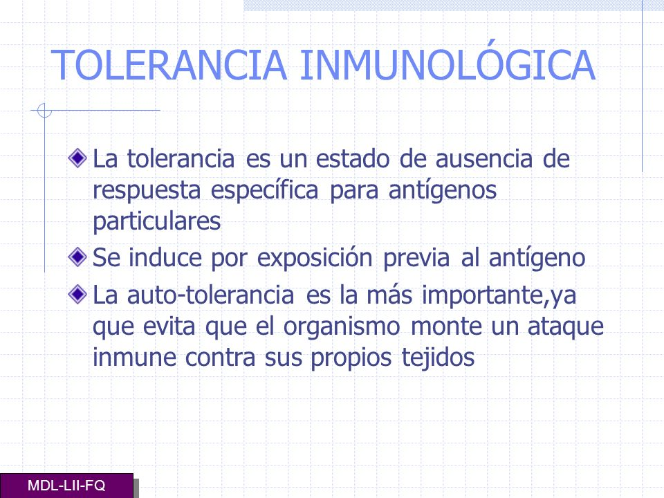 TOLERANCIA INMUNOLÓGICA