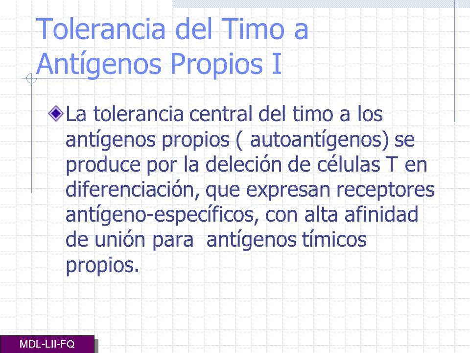 Tolerancia del Timo a Antígenos Propios I