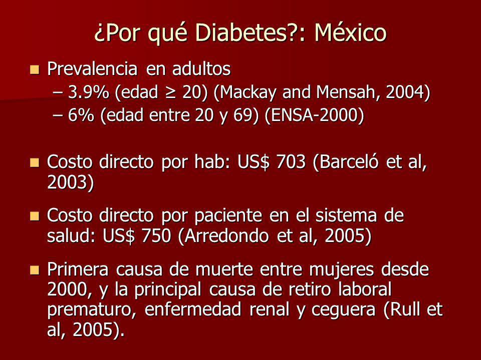 ¿Por qué Diabetes : México