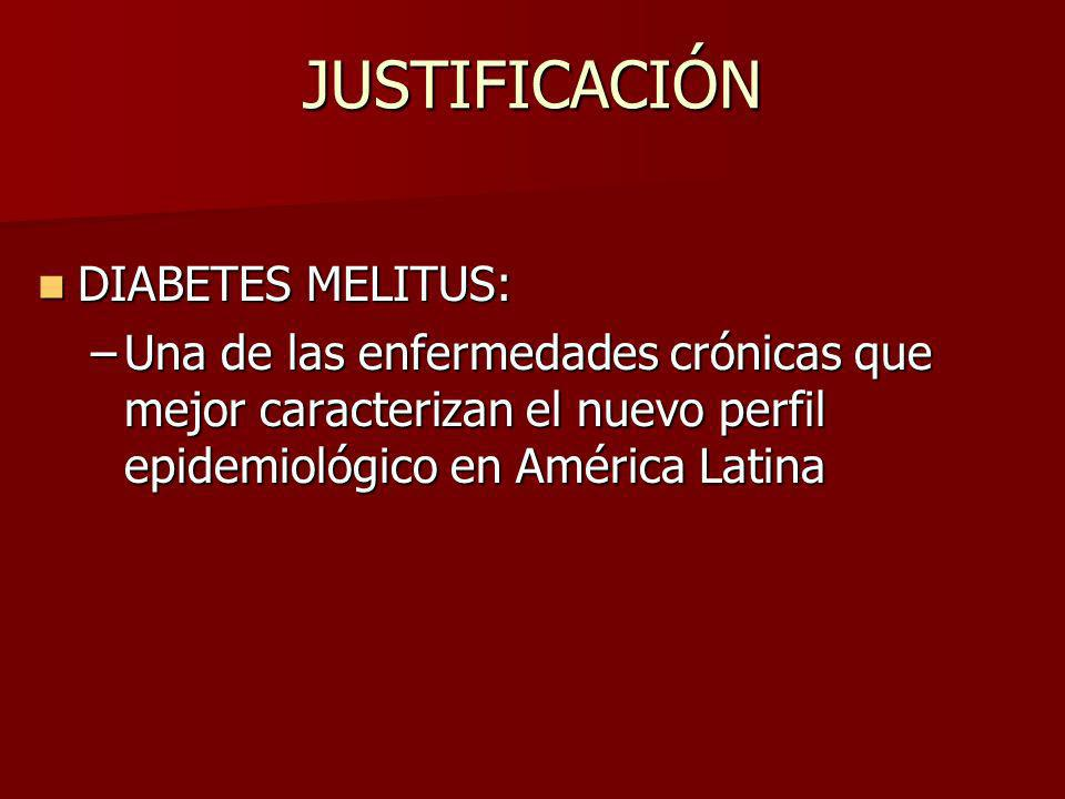 JUSTIFICACIÓN DIABETES MELITUS: