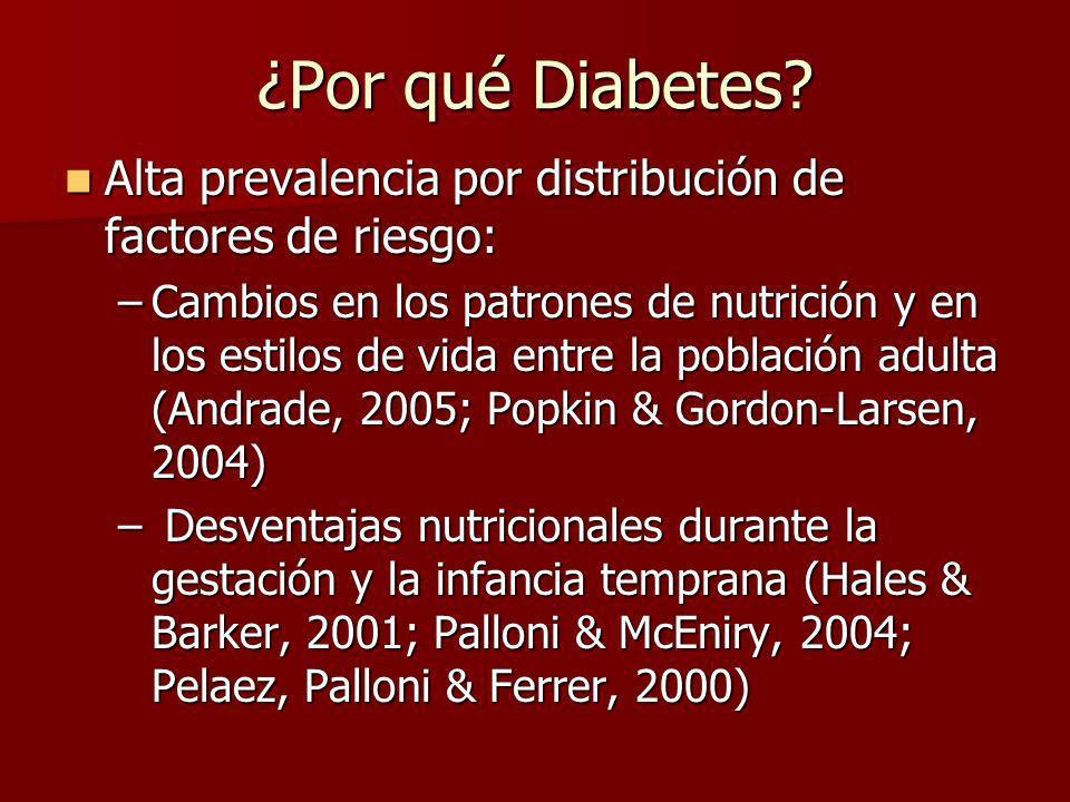 ¿Por qué Diabetes Alta prevalencia por distribución de factores de riesgo: