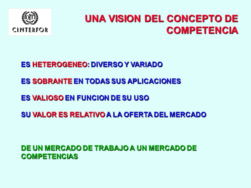 UNA VISION DEL CONCEPTO DE COMPETENCIA