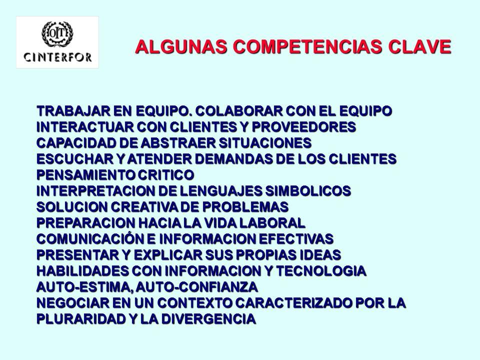 ALGUNAS COMPETENCIAS CLAVE