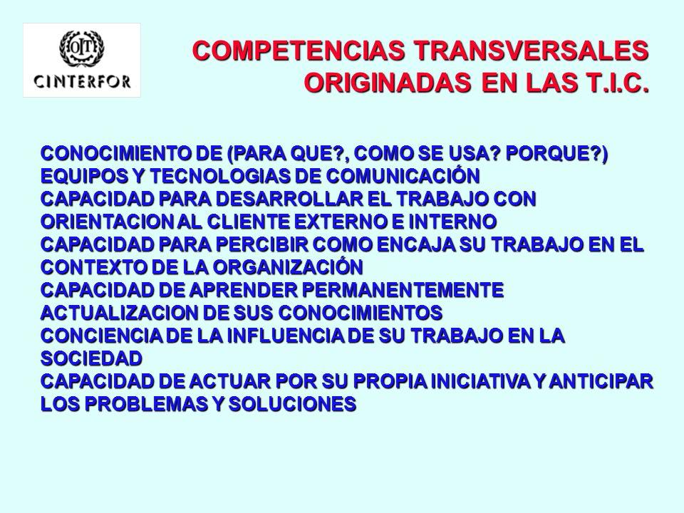 COMPETENCIAS TRANSVERSALES ORIGINADAS EN LAS T.I.C.