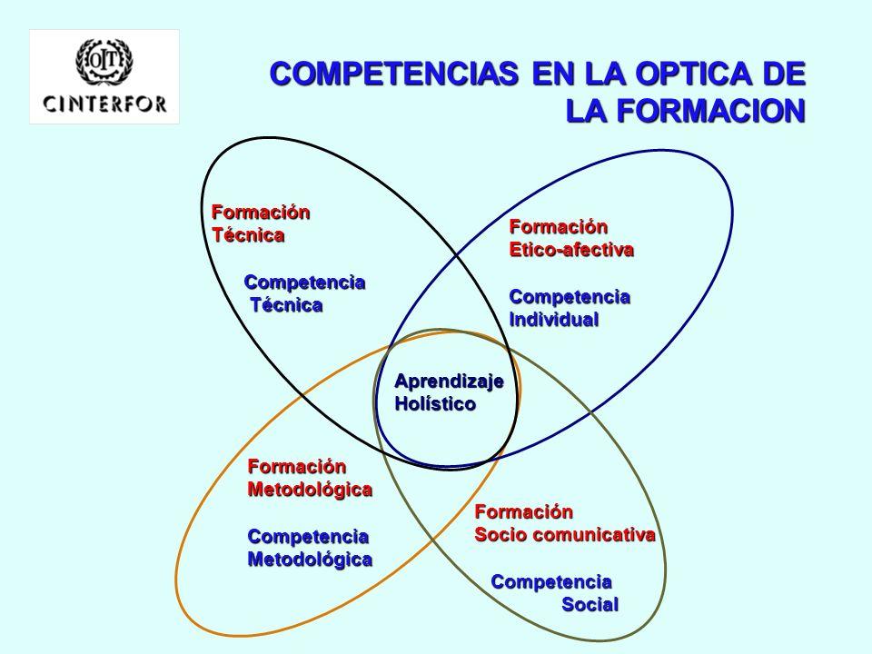 COMPETENCIAS EN LA OPTICA DE LA FORMACION