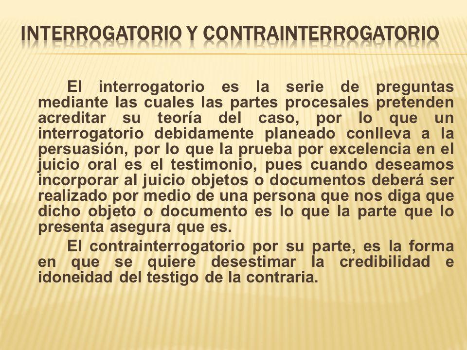 INTERROGATORIO Y CONTRAINTERROGATORIO