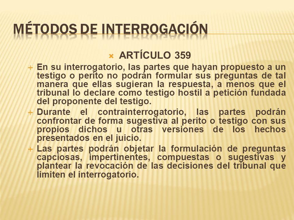 MÉTODOS DE INTERROGACIÓN