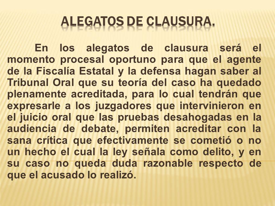 ALEGATOS DE CLAUSURA.