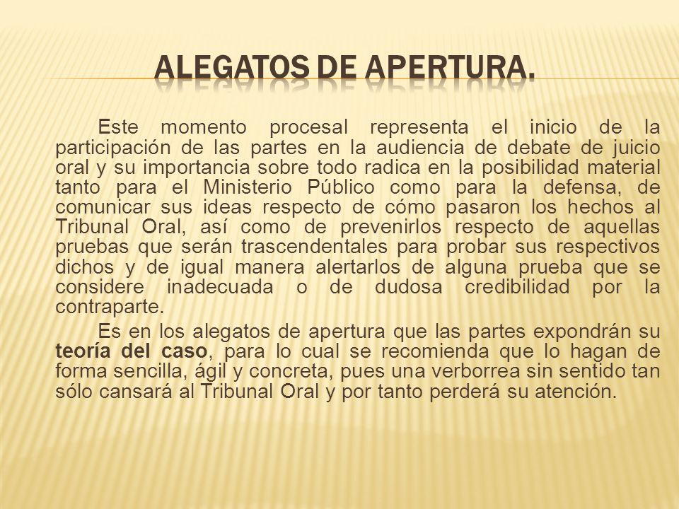 ALEGATOS DE APERTURA.