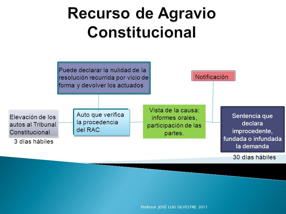 Recurso de Agravio Constitucional