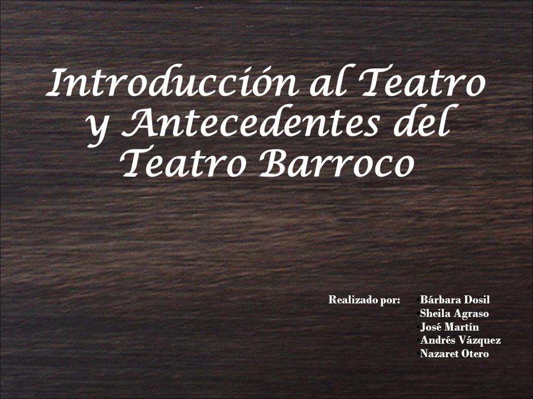 Realizado por: Bárbara Dosil Sheila Agraso José Martín Andrés Vázquez