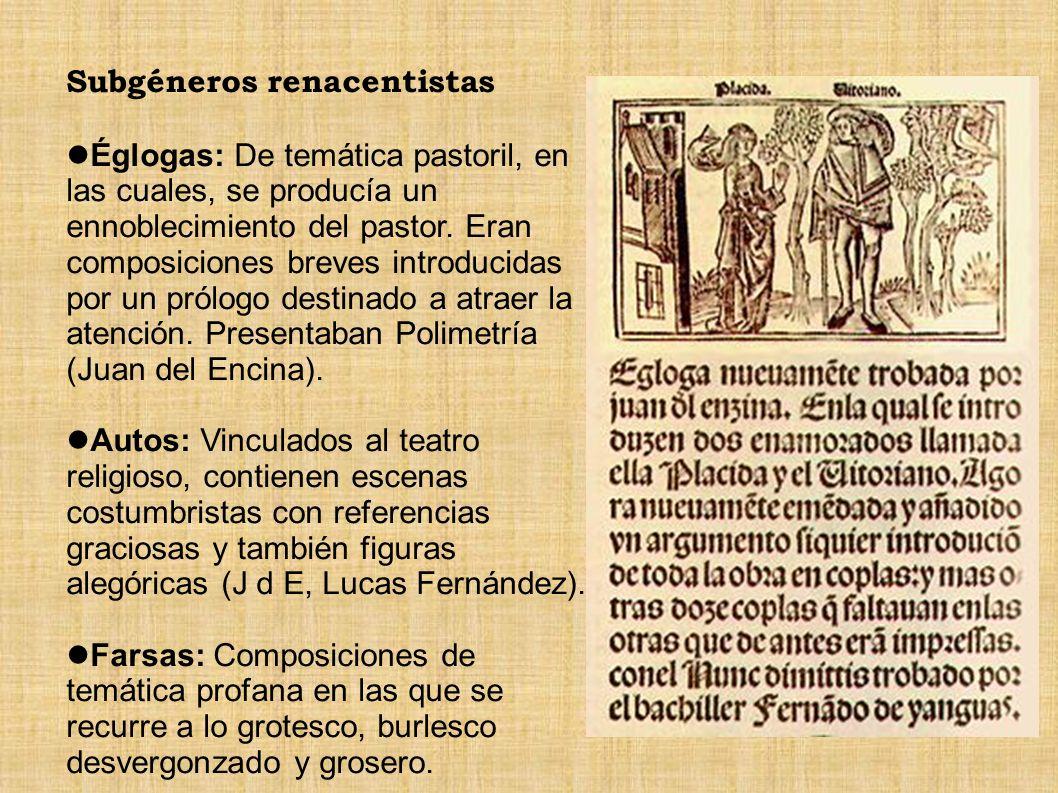 Subgéneros renacentistas
