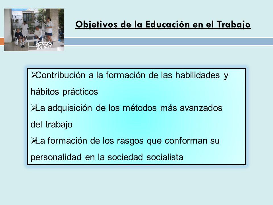 Objetivos de la Educación en el Trabajo