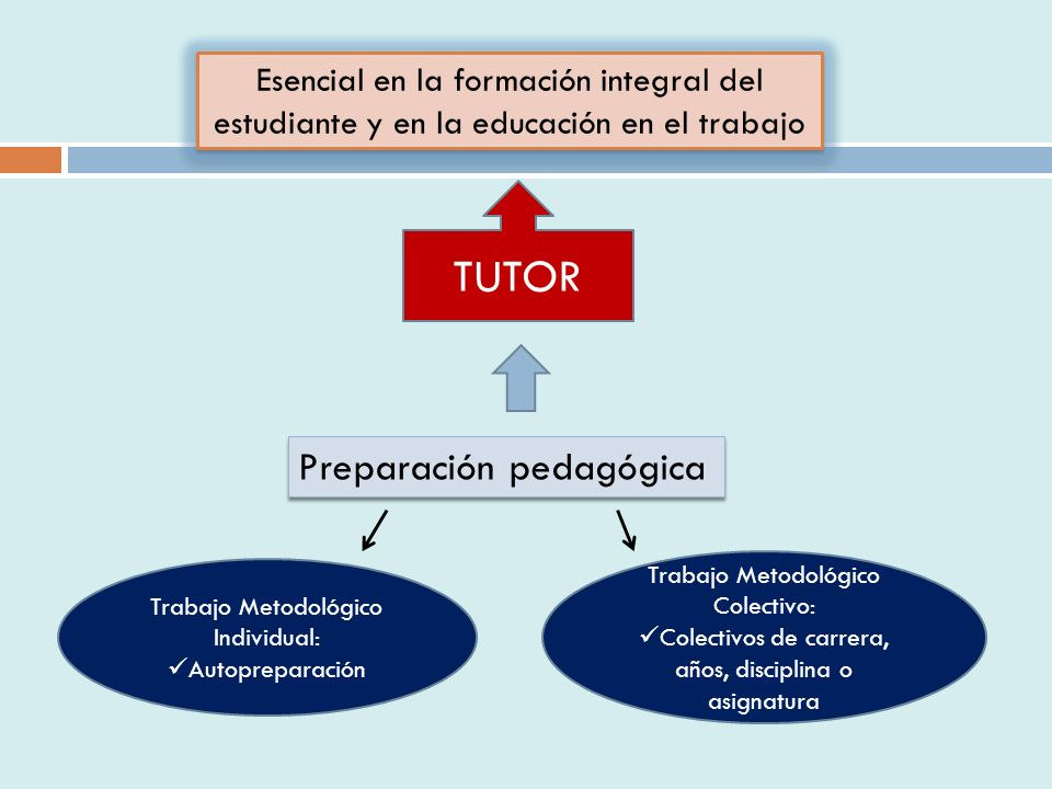 TUTOR Preparación pedagógica