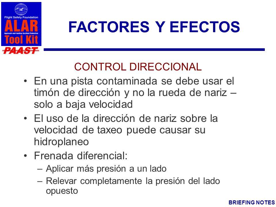 FACTORES Y EFECTOS CONTROL DIRECCIONAL