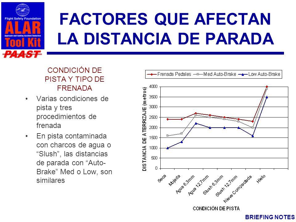 FACTORES QUE AFECTAN LA DISTANCIA DE PARADA