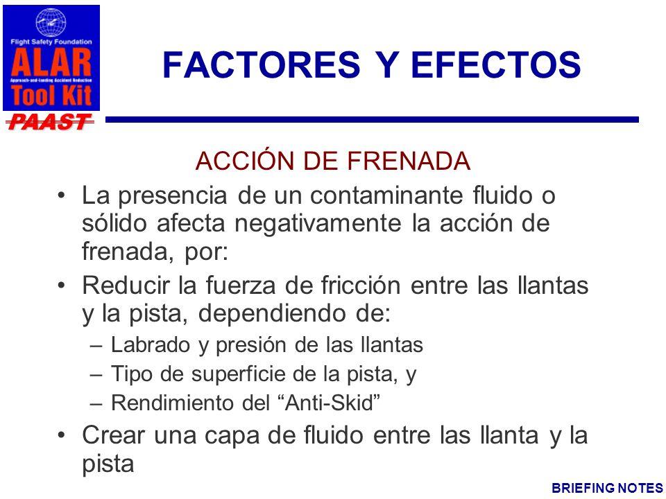 FACTORES Y EFECTOS ACCIÓN DE FRENADA