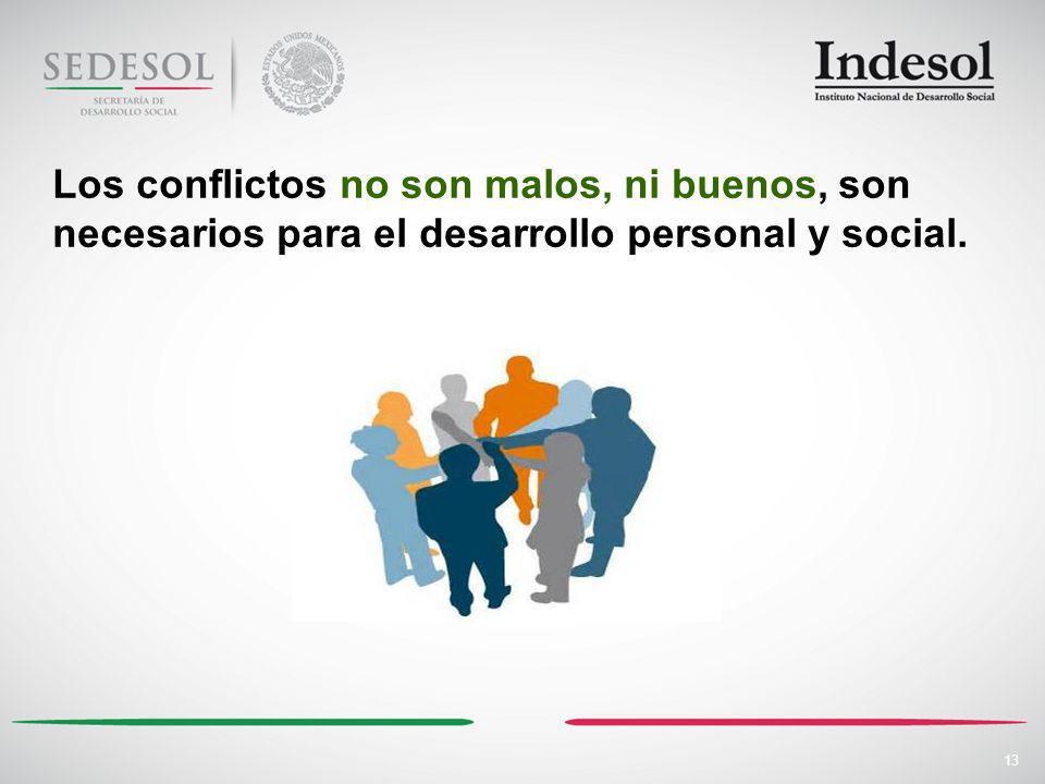 Los conflictos no son malos, ni buenos, son necesarios para el desarrollo personal y social.