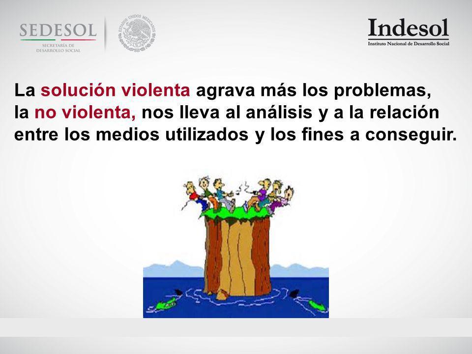 La solución violenta agrava más los problemas,