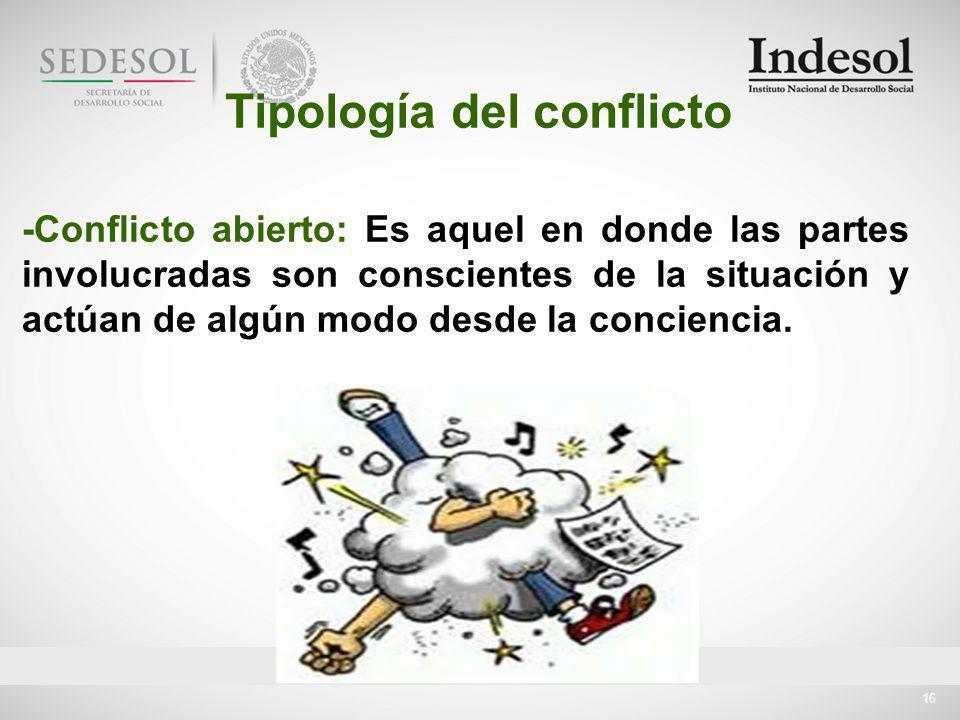 Tipología del conflicto